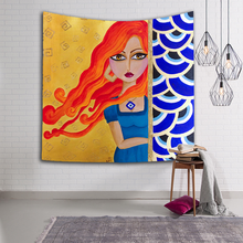 3661f41ffdc88 Home Decor Beautiful Indian Girl woman Tapestry Wall Carpets Hanging Living  Printing Wall Tapestry Mermaid blanket