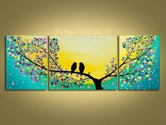 3 piece abstract modern canvas wall art decorative tree artwork ...