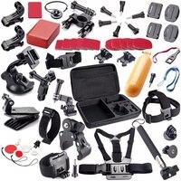 SCHIETEN voor SJCAM Accessoires Set Go Pro Strap Mount Statief Voor GoPro HERO 6 5 4 3 2 Xiaomi Yi 4 K Plus Lite SJ4000 SJ7 ster