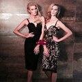 Лето леди стиль женщины марка Sexy Кружева выдалбливают сексуальные платья крючком цветок соболезнуем пояса платье LSQ-80-58