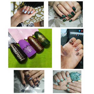 Image 3 - 24 Pcs Nail Stickers 3D Nail Art Sticker Decal Manicure Gold/Silver Stripe Love Heart Glitter Decorations For Nails Accessories