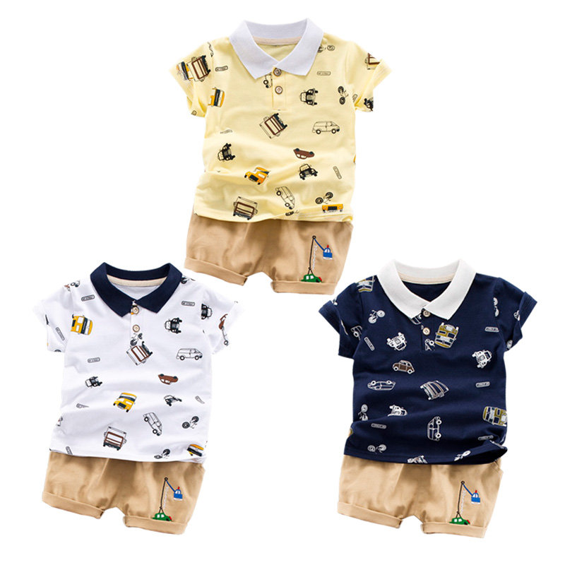 Faithful Toddler Boy Clothes Casual Kids Clothes Set Summer Print T-shirt beach Shorts For Boy Clothes Us Shippment Harmonious Colors Clothing Sets Boys' Clothing