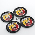 Car styling 56.5mm Abarth Car Emblem Wheel Center Hub Cap Badge wheel Decal Sticker Car Accessories For FIAT 124 125 500 695 OT2