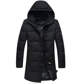 ca342155c 2018 nueva llegada del invierno chaqueta de los hombres para hombre de alta  calidad 90% pato blanco abajo chaquetas con capucha de los hombres