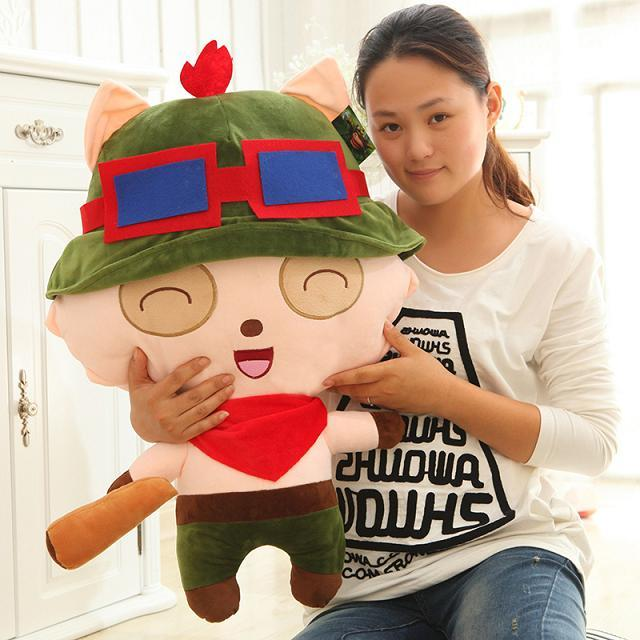 Lol games large 85cm teemo soft plush toy hugging pillow,birthday gift h901 lovely giant panda about 70cm plush toy t shirt dress panda doll soft throw pillow christmas birthday gift x023