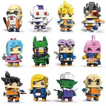Decool Brickheadz Dragon Ball Z SuperHeroes IronMan Marvel Super Heroes Batman Figures Building Block Bricks Heads legoing Toys(China)