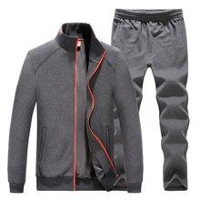 Полноценный Отдых костюм Мужчины носят костюмы Пальто WinterSweatshirt Длинные брюки Бейсбол равномерное Добавить шерстяной костюм плюс размер бесплатная доставка