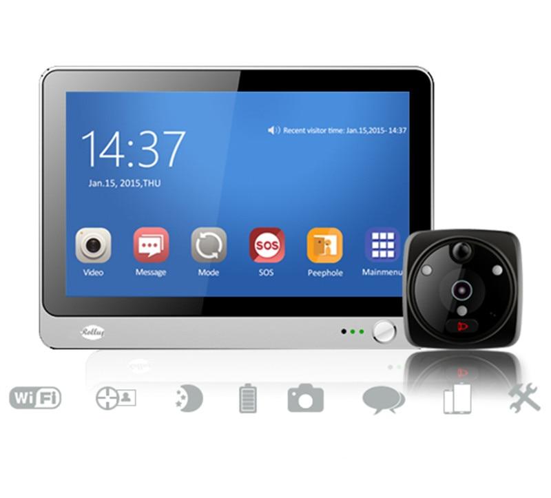 7 Inch  WIFI GSM Video Doorbell  Intercom System Peephole Viewer SOS Function