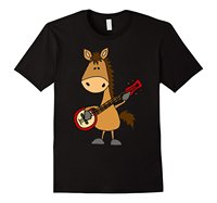 Funny Pattern Men Tops Make Your Own Shirt Smile Today Tees Funny Horse Playing T Shirt