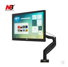 NOVA NB F85A Monitor Desktop Mecânica Primavera Elevação TV Montar 22-32 polegadas Braço Longo LCD Full Motion Base de Suporte com 2 USB porta