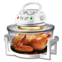 Air Fryer, Infrared Convection Oven, Halogen Oven Countertop, Healthy Cooking, Stainless Steel, 13 Quart 1200W, Prepare Quick He