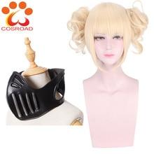 Cosroad Boku non mon héros académique Himiko Toga Cosplay perruque masque Cosplay accessoires pour fête dhalloween