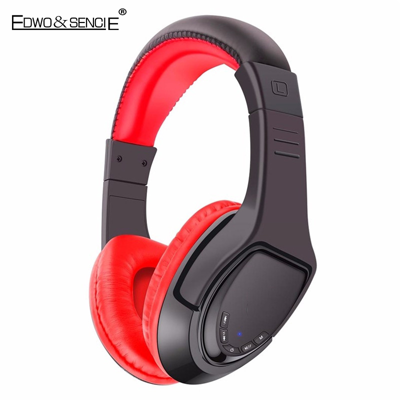 EDWO MX333 Super Bass Wireless Headphone Bluetooth Gaming Headset Stereo Music Earphone For iPhone 7 Samsung Xiaomi Huawei LG PC original r6000 wireless headphone bluetooth headset for samsung xiaomi iphone 7 car charger 2 in 1 bluetooth earphone