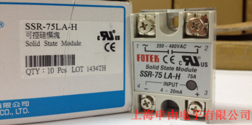100% Original Authentic Taiwan's Yangming FOTEK solid state relay / thyristor module SSR-75LA-H new and original sa34080d sa3 4080d gold solid state relay ssr 480vac 80a