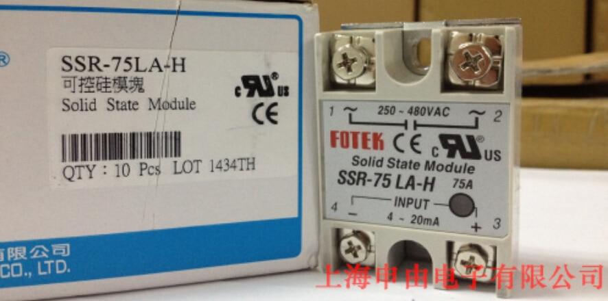 100% Original Authentic Taiwan's Yangming FOTEK solid state relay / thyristor module SSR-75LA-H brand new original authentic brs15b