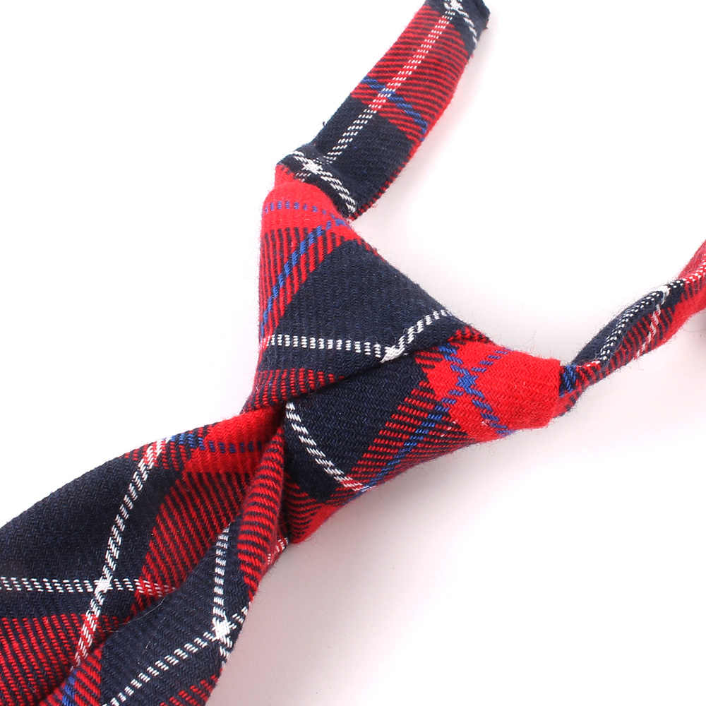 Moda kadın boyun kravat noel pamuk erkek kız bağları ince ekose kravat hediyeler için rahat yenilik kravat lastik kravatlar