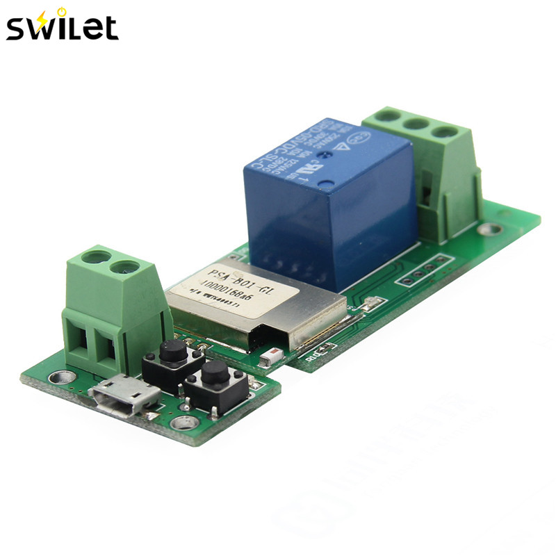 SWILET USB 5V DIY 1 Channel Jog Inching Self-locking WIFI Wireless Smart Home Switch APP Remote Control Module for IOS/Android esp 07 esp8266 uart serial to wifi wireless module