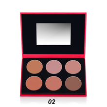 Perfect Summer 6 Colors Face Blush Palette Brand Cheek Blusher Powder Contouring Makeup Set Blush Tools