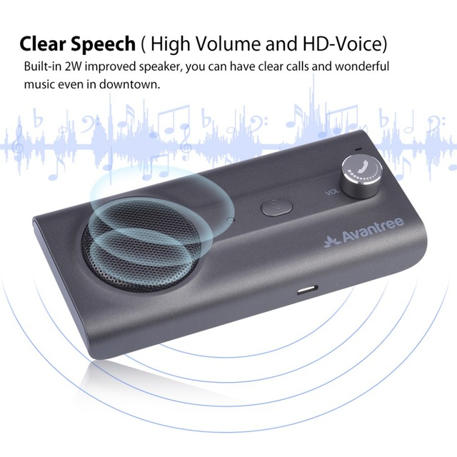 2018NEW Bluetooth Handsfree Visor Car Kit with Siri, Google Assistant Voice Command, Auto Power On Wireless In Car  speakerphone 3
