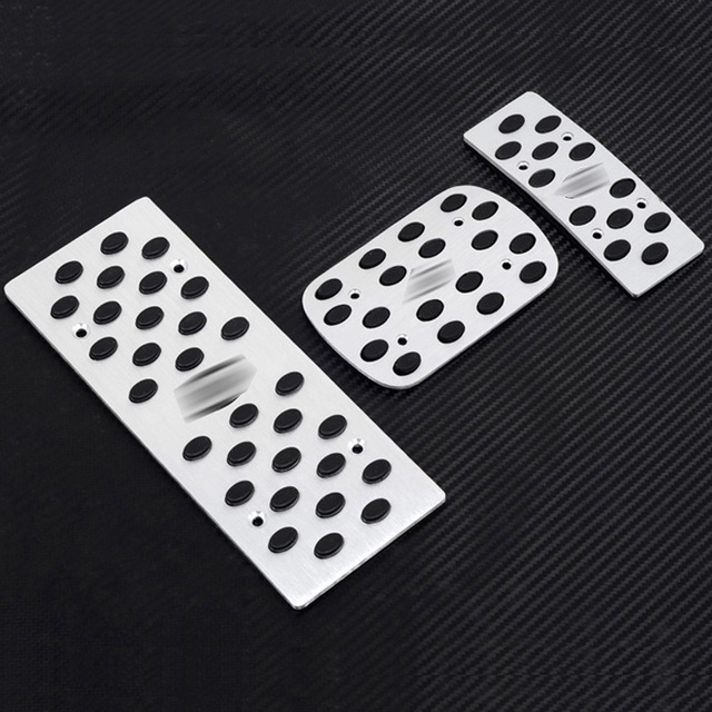For KIA k2 Rio 2007-2012 Aluminium Fuel Brake Foot Rest AT pedals plate Throttle brake pedal Foot Pedals Pad Rest Plate