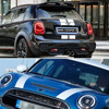 Car Styling Dual Rally Racing Bonnet Boot Rear Roof Stripes Decal Sticker Vinyl for Mini Cooper R56 R50 R53 F55 F56 F60 R60 R55 promo