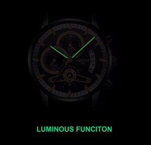 Image 4 - Nibosi relógio de pulso automático masculino, relógio de quartzo marca de luxo dourado com data, luminoso, calendário, relógio de pulso