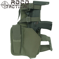 ROCOTACTICAL Warrior Swat MP9 Leg Holster With Magazine Pouch Military Molle Hand Gun Holster Made Of
