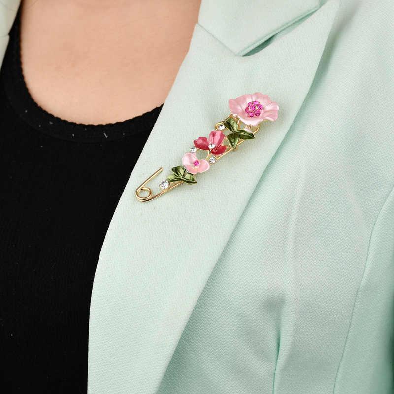 2020 New Vintage Spilli e Spille per Le Donne migliore regalo Del Collare Femmina di Grandi Dimensioni Risvolto Spilli Distintivo Spilla di Strass Fiore Gioielli