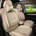 Подголовник автомобиля Покрывает для Infiniti QX60 Крышка Места Custom Fit Чехлы & Поддержка Передняя и Задняя Лен Автокресло подушки Защиты