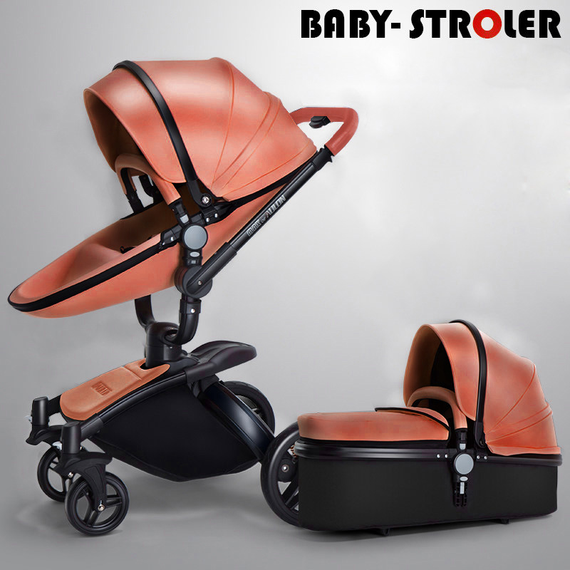 AULON Oyun Long baby trolley cortical bi-directional high-view shock absorber baby carriage can sit in the cart 3 in 1 fast oscillations in cortical circuits
