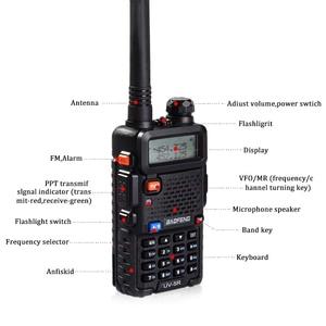 Image 2 - Walkie Talkie Baofeng UV 5R Radio Station 128CH VHF UHF Zwei weg Radio cb Tragbare baofeng uv 5r Radio Für jagd uv5r