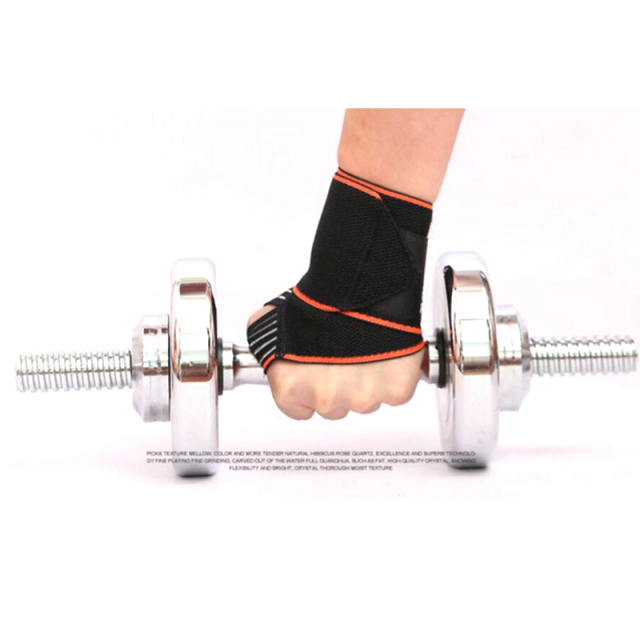 2pcs/lot Adjustable Opening Design Weight Lifting Wristband Wrist Support Winding Bracers Gym Fitness Wrist Straps Bandage