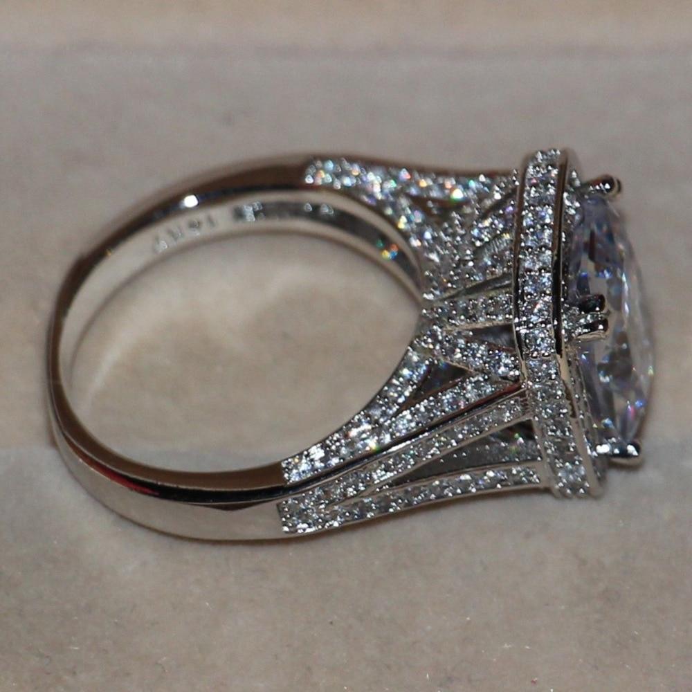 Victoria Wieck Majestic Sensation 192pcs Topaz Simulated Diamond 14kt White  Gold Filled Engagement Wedding Band Ring