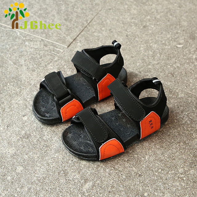 2018 Spring Summer Kids Shoes Boys Girls Sandals Children Beach Shoes Soft  Toddler Sandals For Baby Boy Girl Size 21-36 a28810405253