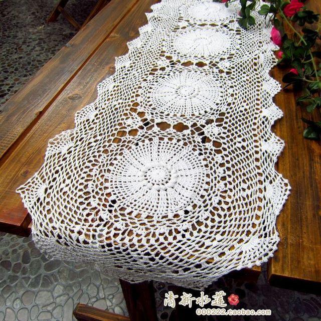 Diseño ruso moda corredor de la tabla de la aguja de gancho hecho a ...