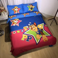 paw patrol duvet cover 3pc/4pc/5pc for girl boy baby 100% cotton bedding set twin queen king size cartoon dog bed linens sheets