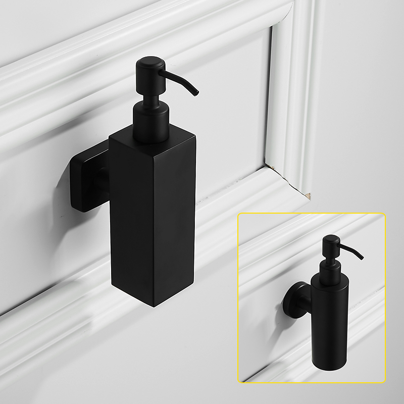 Us 21 27 56 Off Black Stainless Steel Liquid Soap Dispenser Wall Mounted Bathroom Accessories Set Hand Modern Products In