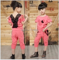 new 2015 Minnie suit baby girl clothes set,girls clothing set,sport suit,lace,summer,T-shirt + pants set