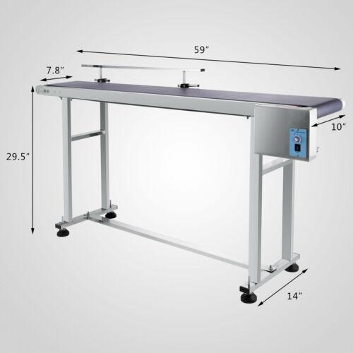 250 Вт Авто мощность слайдер кровать лента из ПВХ Электрический конвейер нержавеющая 150x20 см