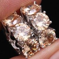 Pretty Champagne Morganite 925 Sterling Zilveren Sieraden Grade Clip Huggie Oorbellen S0857