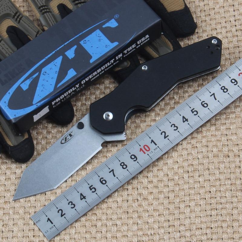 HIGHT QUALITY zt0700 S30V G10 handle font b Tactical b font Hunting Survival font b Knife