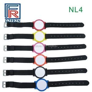 Image 3 - 1pcs 125khz RFID Adjustable Nylon wristband Bracelet watch strap card/tag with EM4100 Tk4100 for access control