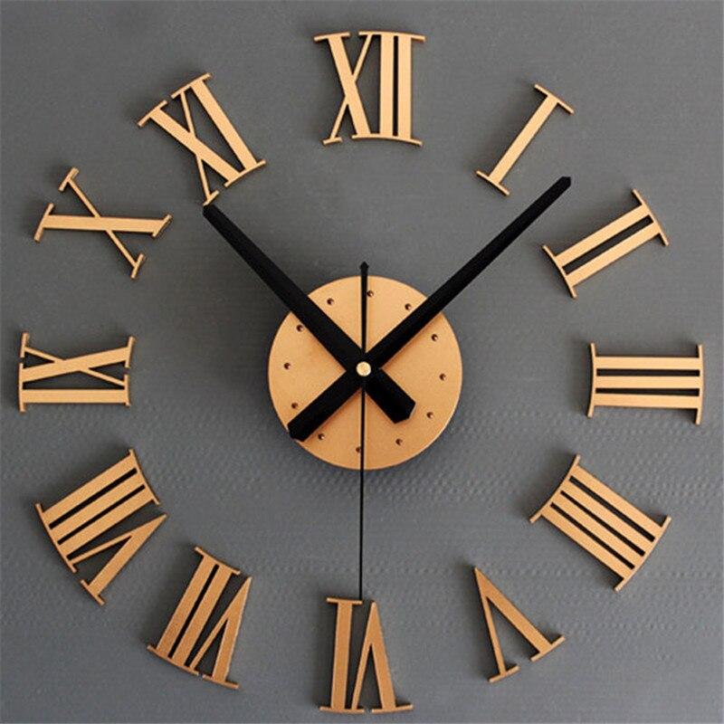 Hot!DIY Luxury 3D Wall Clock Large Size Surface Home Decoration Art Clock Home Decor Best Price Drop Shipping Jun22