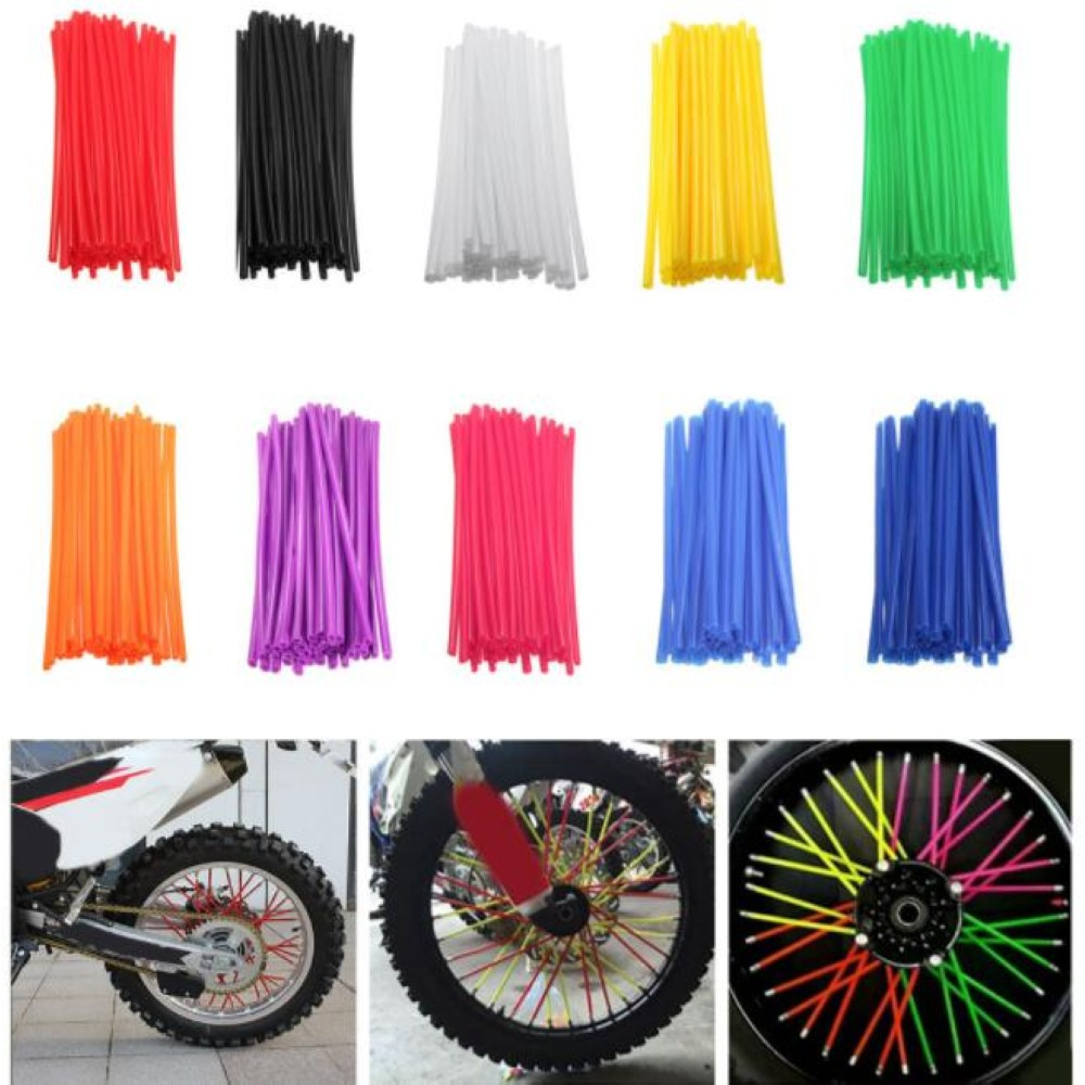 New Motorcycle 72 Pcs Wheel Rim Spoke Wrap Kit Skin Cover For MX Motocross Dirt Pit Bike Enduro Supermoto Honda Suzuki KTM motocross dirt bike enduro wheel rim spoke shrouds skins covers wr250 for ktm kx85 exc450 for kawasaki kx 500 crf yzf rmz kxf