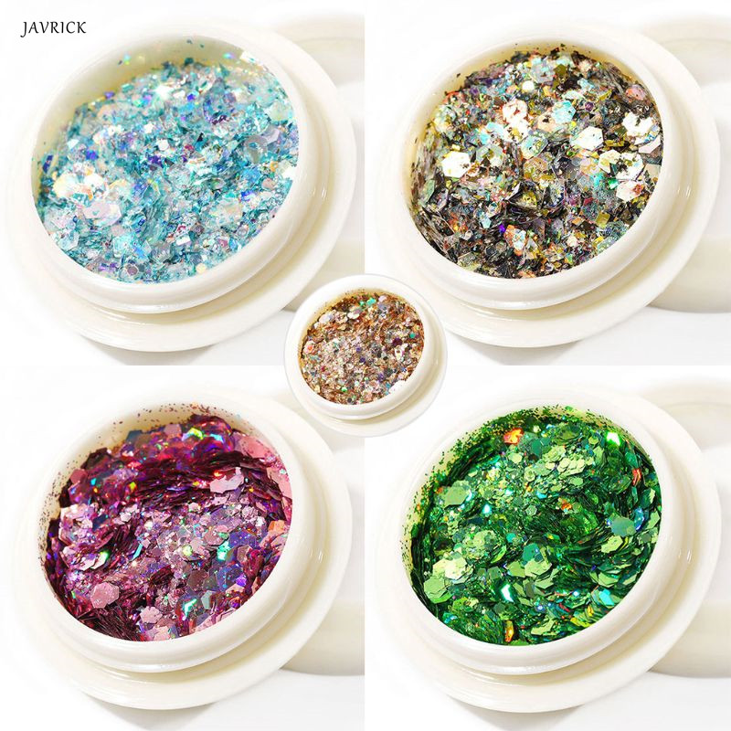 Manicure Sequins Nail Beauty Glitter Filling Material DIY Epoxy Filler Nails Phone Case Decoration Tool Sequin Resin Accessories