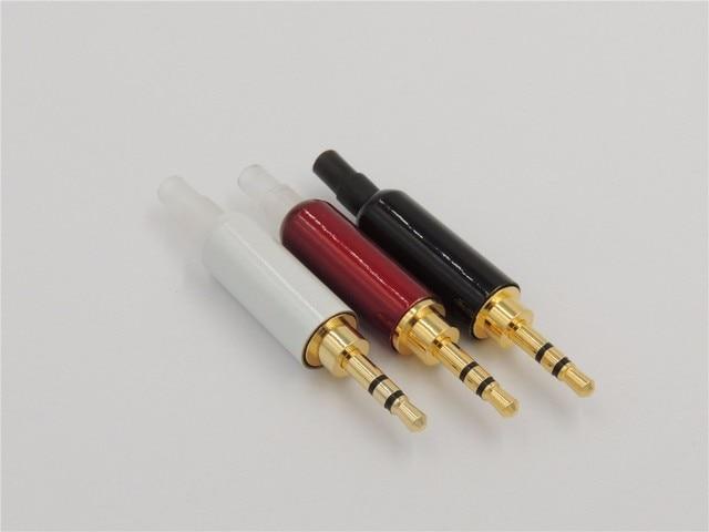 4pcs 2 5mm 3 pole male repair headphone jack solder cable adapter mic headphone jack wiring 4pcs 2 5mm 3 pole male repair headphone jack solder cable adapter connection audio plug connectors