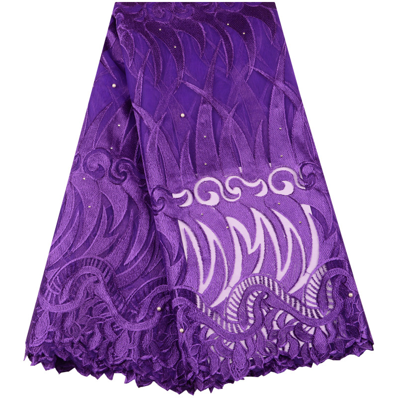 African Stones Lace Fabric 2019 High Quality French Lace Fabric Nigerian Tulle Mesh Lace Fabrics For