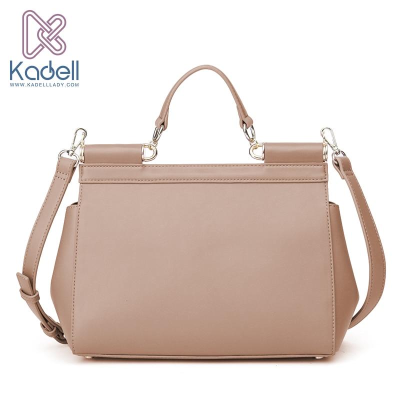 Kadell Vintage High Quality Women Messenger Bags Handbag Doctor Bag Fashion Brand Shoulder Women Leather Handbags Ladies Tote