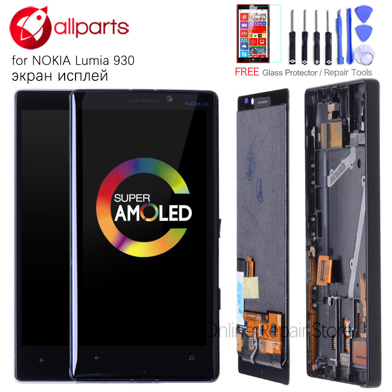 ORIGINAL AMOLED 5.0 LCD For NOKIA Lumia 930 LCD Display Touch Screen Digitizer Assembly Replacement Screen for Lumia 930 LCD