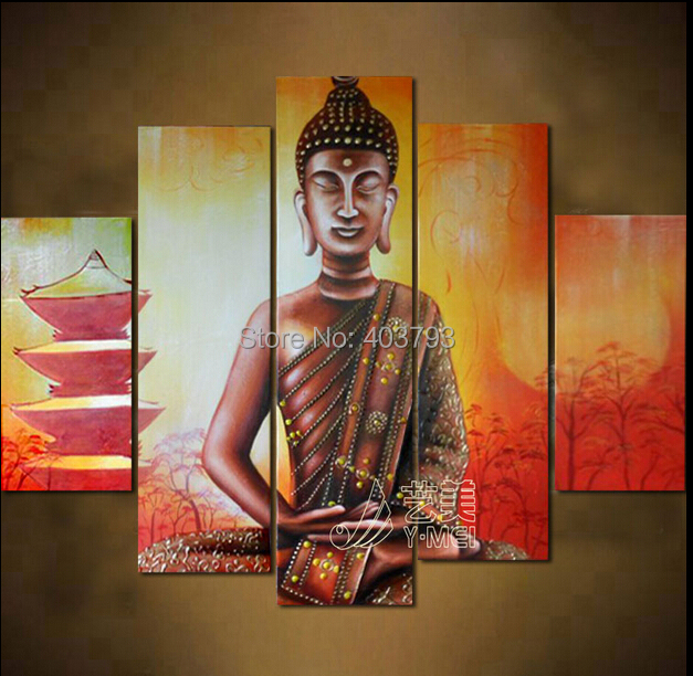 MODERN ABSTRACT HUGE LARGE CANVAS ART OIL PAINTING buddha light tower paintings no framed in Painting Calligraphy from Home Garden